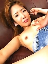 Yui Takatsuki has hairy cunt fucked with toys